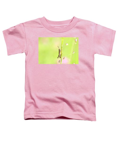 Grasshopper  Toddler T-Shirt by Tommytechno Sweden