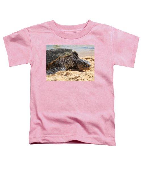 Green Sea Turtle 2 - Kauai Toddler T-Shirt
