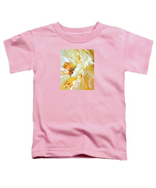 Toddler T-Shirt featuring the photograph Heart Of Peony by Nareeta Martin