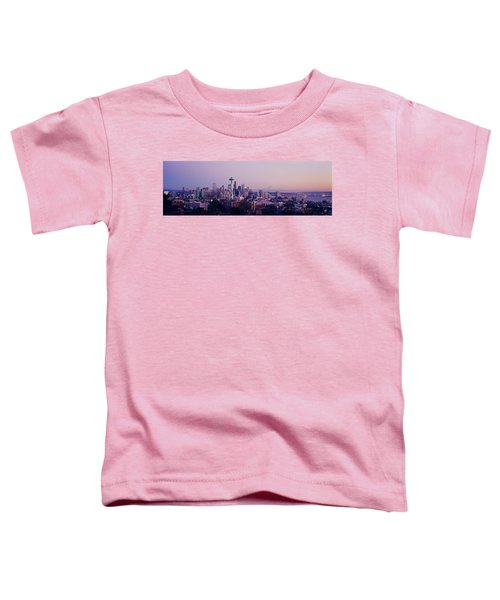 High Angle View Of A City At Sunrise Toddler T-Shirt