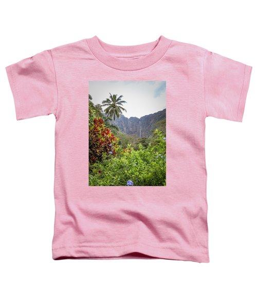 Hiilawe And Hakalaoa Falls Toddler T-Shirt