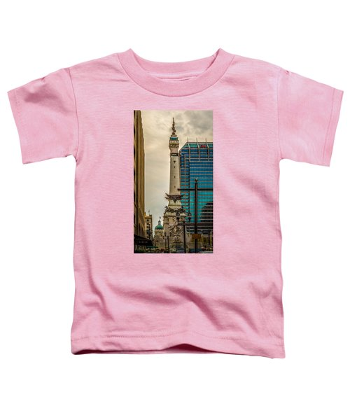 Indiana - Monument Circle With State Capital Building Toddler T-Shirt