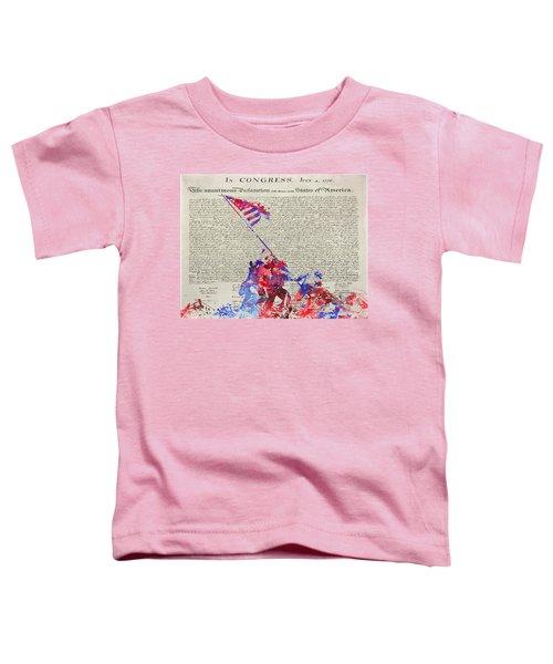 Iwo Jima Declaration Of Freedom Toddler T-Shirt