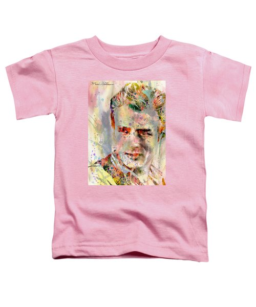 James Dean Toddler T-Shirt by Mark Ashkenazi