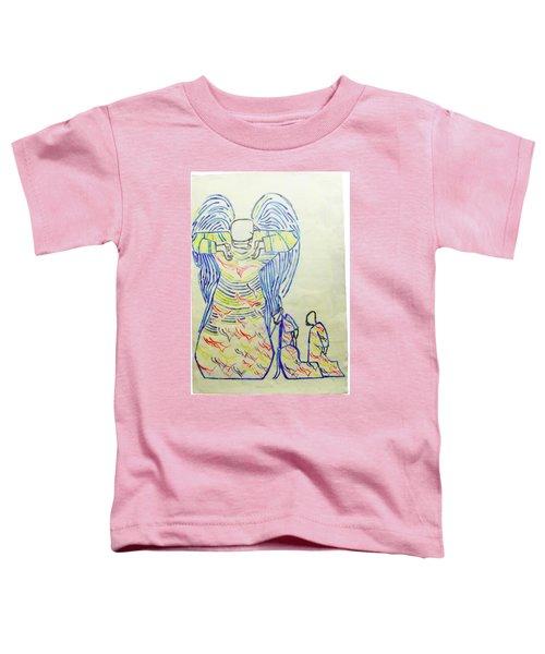 Jesus Guardian Angel Toddler T-Shirt