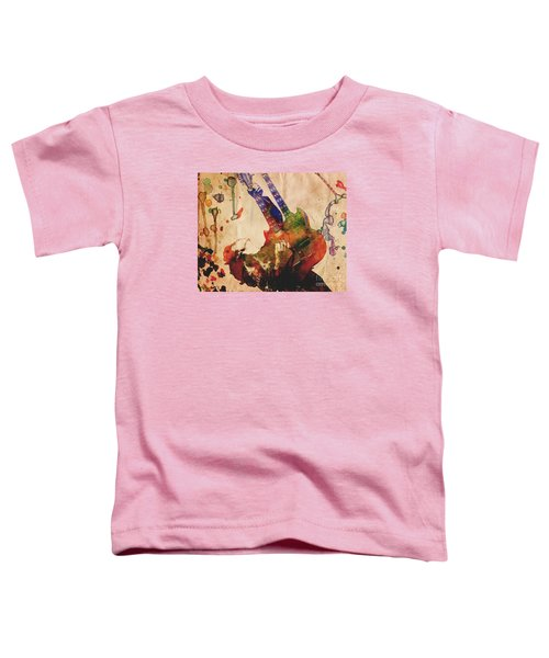 Jimmy Page - Led Zeppelin Toddler T-Shirt by Ryan Rock Artist
