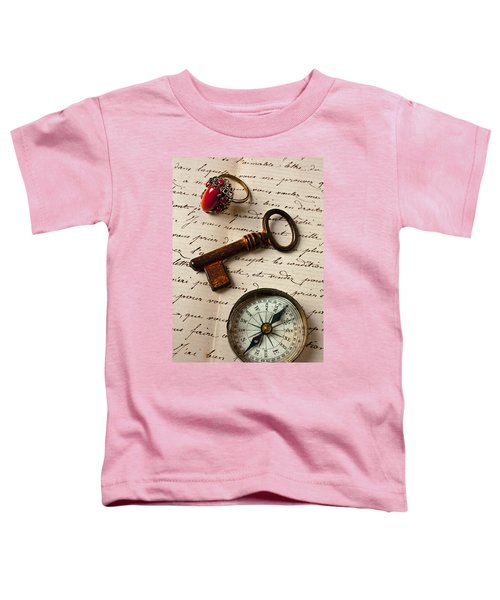 Key Ring And Compass Toddler T-Shirt