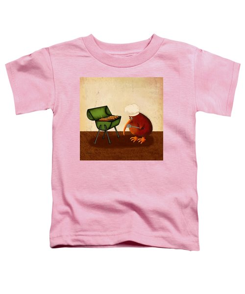 Kiwi Bird Kev's Barbie. Grub's Up Toddler T-Shirt