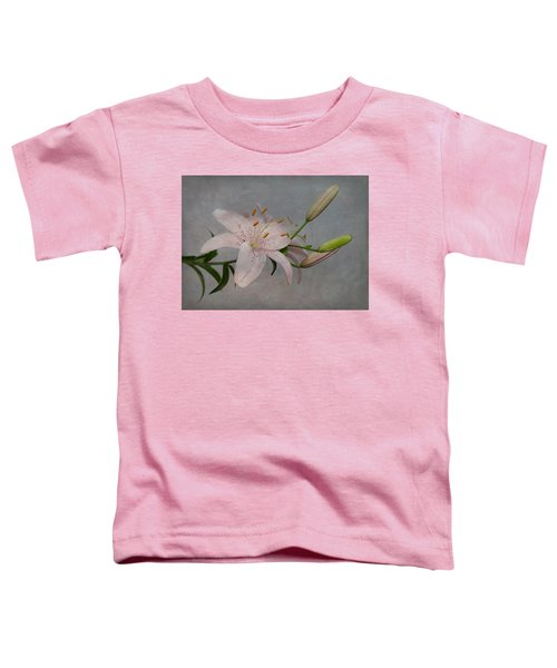 Pink Lily With Texture Toddler T-Shirt