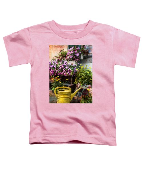 Toddler T-Shirt featuring the photograph Little Swiss Garden by Debra and Dave Vanderlaan