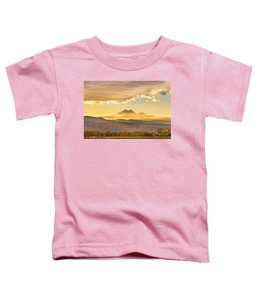 Longs Peak Autumn Sunset Toddler T-Shirt