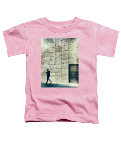 Toddler T-Shirt featuring the photograph Man With Cell Phone by Silvia Ganora