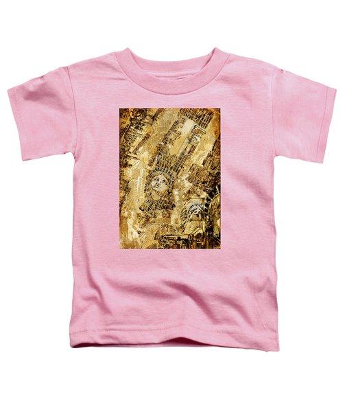 Manhattan Map Antique Toddler T-Shirt