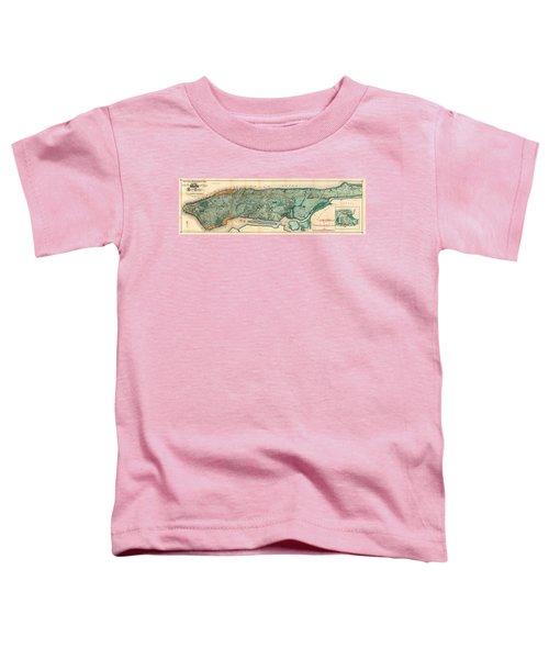 Map Of Manhattan Toddler T-Shirt