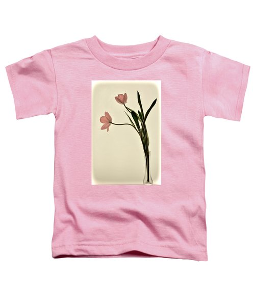 Mauve Tulips In Glass Vase Toddler T-Shirt