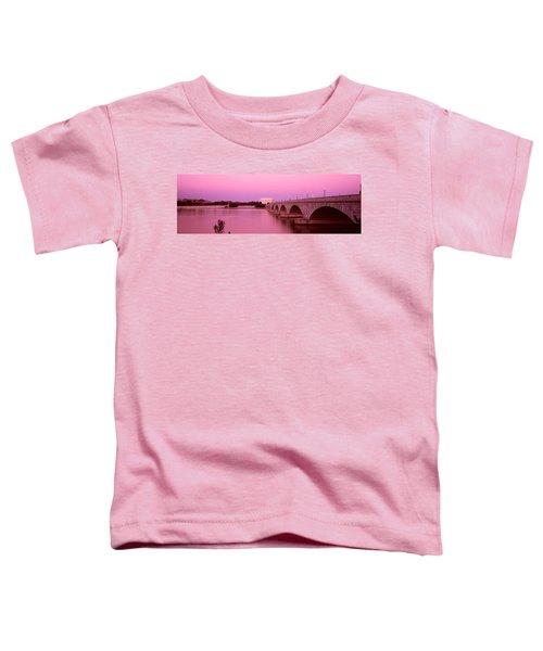 Memorial Bridge, Washington Dc Toddler T-Shirt by Panoramic Images