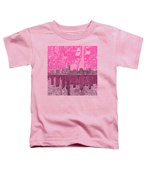 Miami Skyline Abstract 4 Toddler T-Shirt by Bekim Art