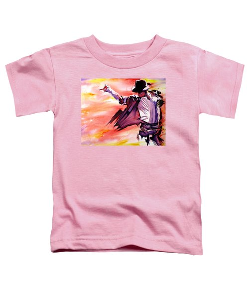 Michael Jackson-billie Jean Toddler T-Shirt by Joshua Morton