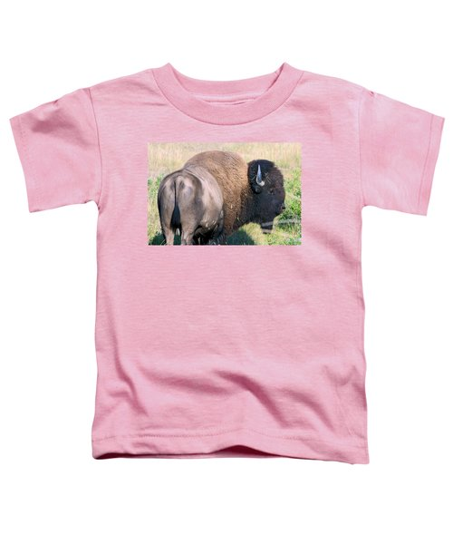 Montana Buffalo Bison Bull Toddler T-Shirt