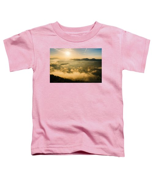 Morning Fog In The Saxon Switzerland Toddler T-Shirt