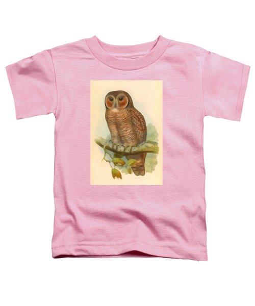Mottled Wood Owl Toddler T-Shirt