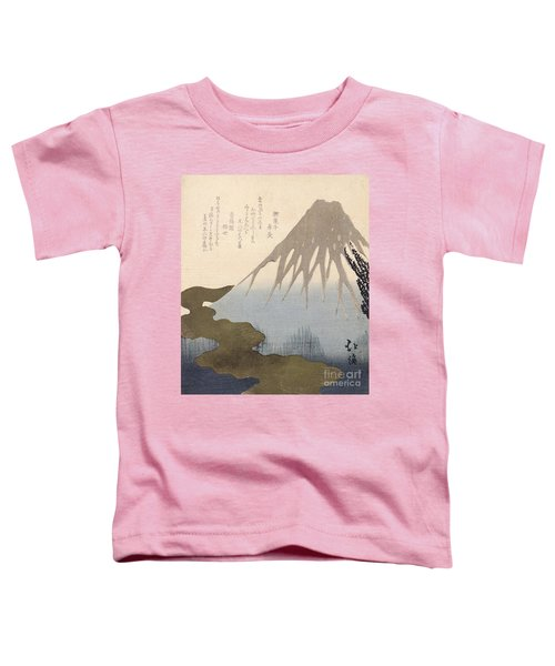 Mount Fuji Under The Snow Toddler T-Shirt