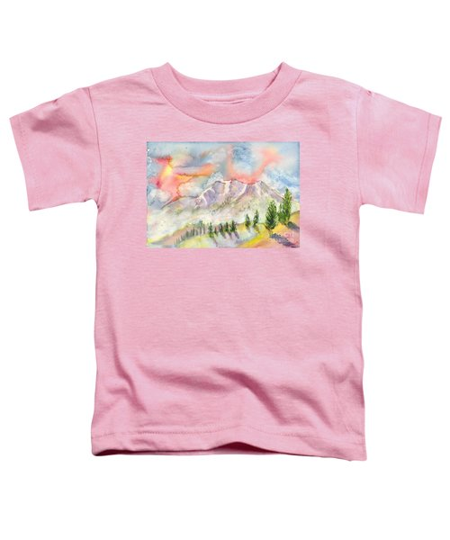 Mountain Sunset Toddler T-Shirt