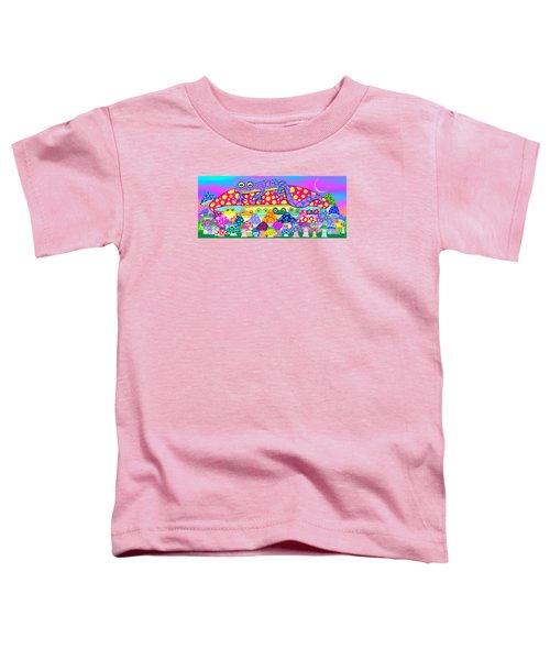 Mushroom Meadow Frogs Toddler T-Shirt