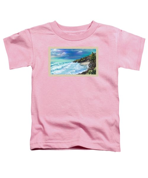 Toddler T-Shirt featuring the painting My Private Ocean by Susan Kinney