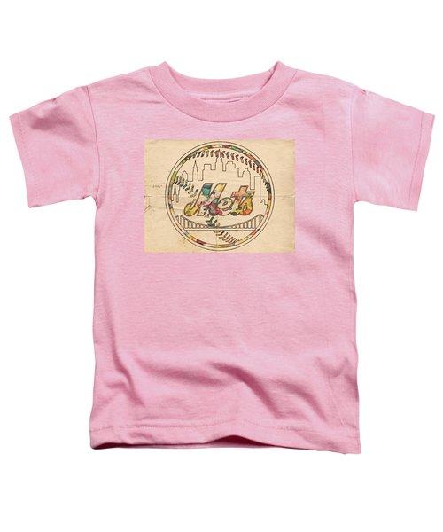 New York Mets Poster Vintage Toddler T-Shirt
