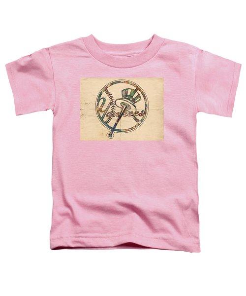 New York Yankees Poster Vintage Toddler T-Shirt