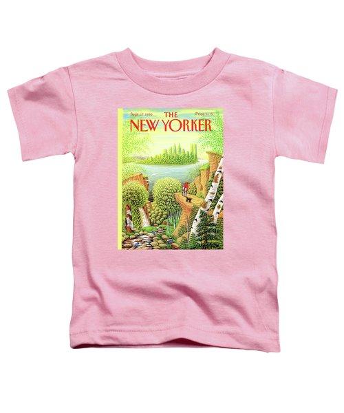 Green New York Toddler T-Shirt