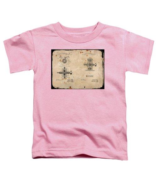 Nikola Tesla's Alternating Current Generator Patent 1891 Toddler T-Shirt