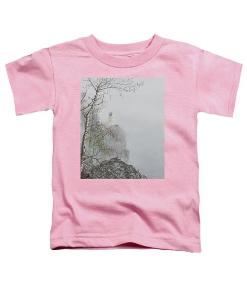 North Shore Lighthouse In The Fog Toddler T-Shirt