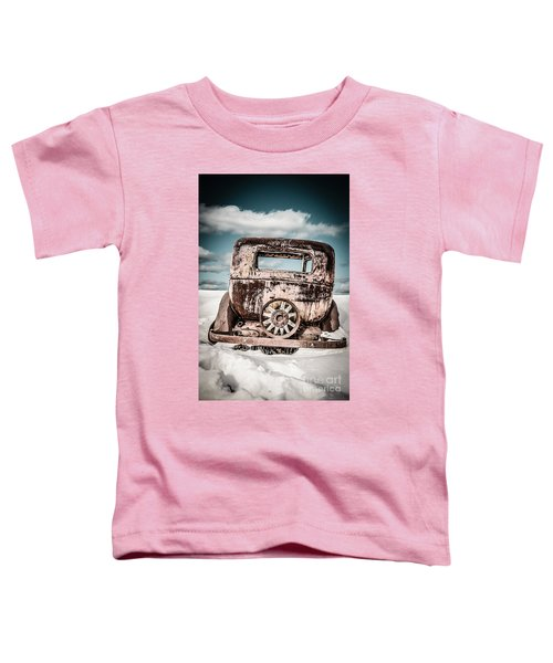 Old Car In The Snow Toddler T-Shirt