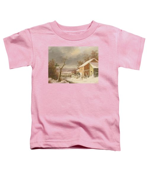 Old Mill In Winter Toddler T-Shirt