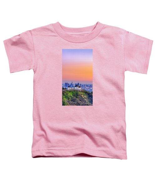 Orangesicle Griffith Observatory Toddler T-Shirt
