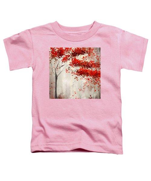 Owl In Autumn Toddler T-Shirt