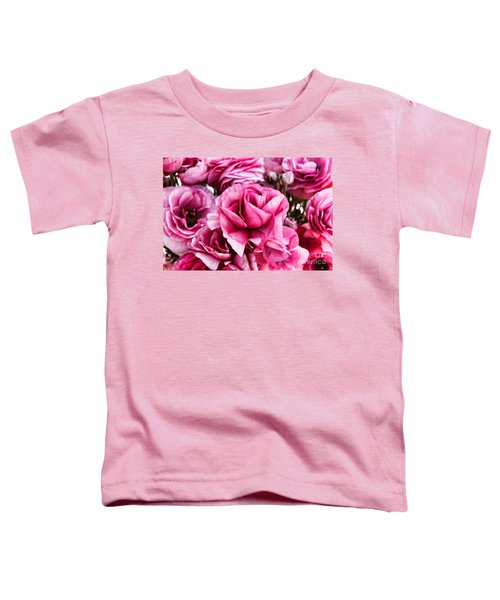 Paint Me Pink Ranunculus Flowers By Diana Sainz Toddler T-Shirt