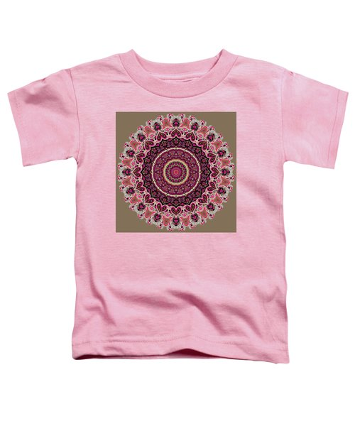 Toddler T-Shirt featuring the digital art Paisley Hearts by Joy McKenzie