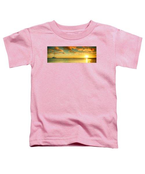 Panoramic Photo Sunrise At Monky Mia Toddler T-Shirt