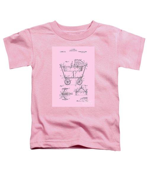 Patent Art Baby Carriage 1922 Mahr Design Pink Toddler T-Shirt