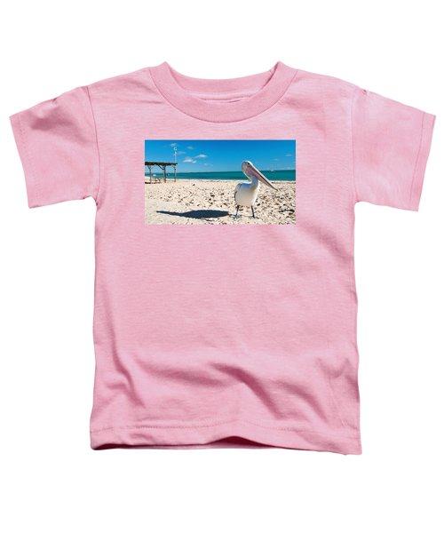 Pelican Under Blue Sky Toddler T-Shirt