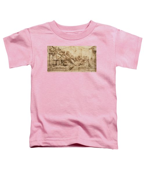 Perspective Study For The Background Of The Adoration Of The Magi Toddler T-Shirt