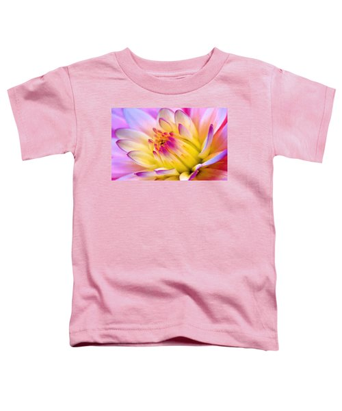 Pink And White Water Lily Toddler T-Shirt