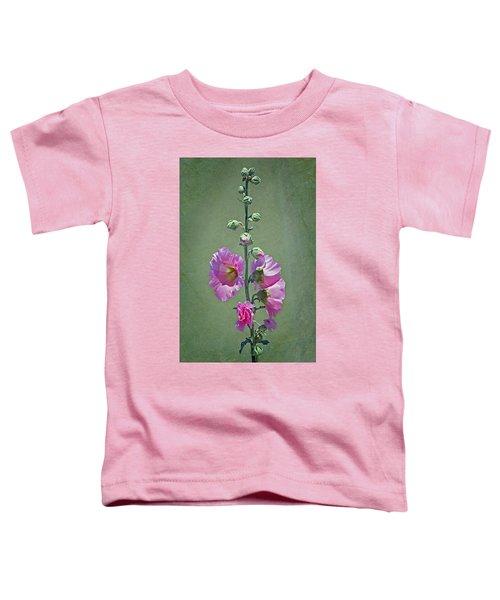 Pink Hollyhocks Toddler T-Shirt