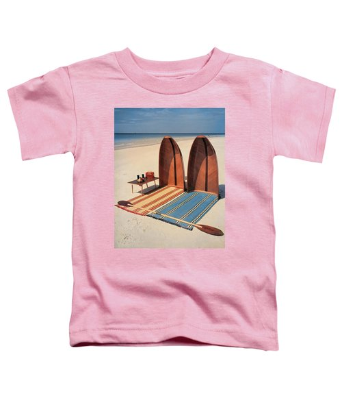 Pixie Collapsible Boat On The Beach Toddler T-Shirt