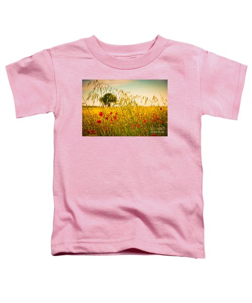 Poppies With Tree In The Distance Toddler T-Shirt