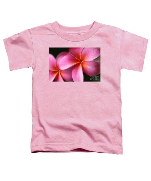 Pua Lei Aloha Cherished Blossom Pink Tropical Plumeria Hina Ma Lai Lena O Hawaii Toddler T-Shirt