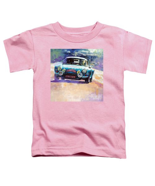 Rally Monte Carlo 1972 Alpine-renault A110 1600  Toddler T-Shirt